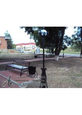Фонарь парковый с урной и скамейкой
